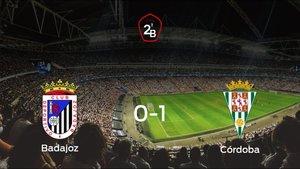 El Córdoba se impone al Badajoz y consigue los tres puntos (0-1)