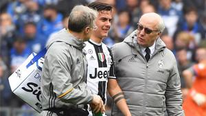 Dybala se retiró en la primera parte del Sampdoria-Juventus