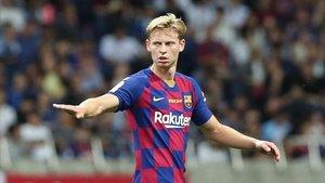 Frenkie De Jong hará su debut con el Barça en la Liga