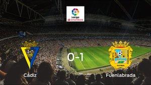 El CF Fuenlabrada vence en el Nuevo Ramón de Carranza al Cádiz (0-1)