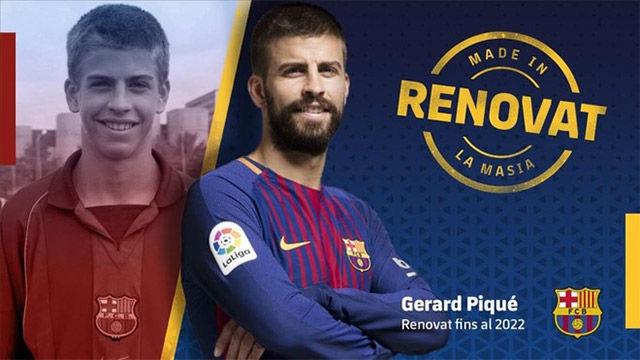 Gerard Piqué seguirá en el FC Barcelona hasta 2022