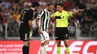 Giorgio Chiellini acabó lesionado en la derrota de la Juventus ante el Nápoles