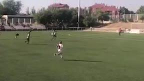 Gol de Fabián Luzzi en las categorías inferiores del Rayo