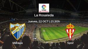 Jornada 7 de la Segunda División: previa del duelo Málaga - Real Sporting