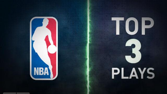 Las tres mejores jugadas de la madrugada en la NBA