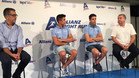 Los hermanos Márquez, durante la rueda de prensa en el Circuit