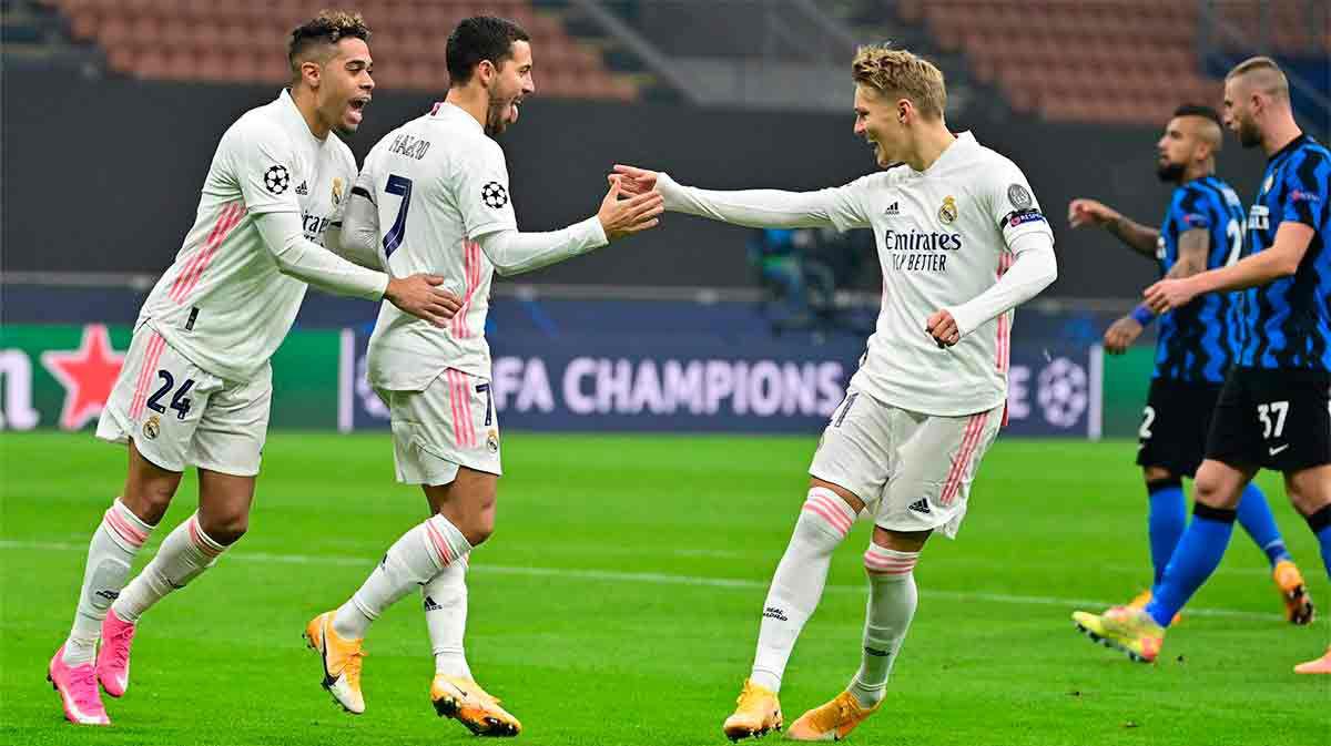 El Madrid se acerca al liderato de su grupo tras la victoria ante el Inter