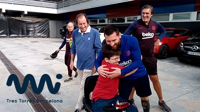 Messi cumplió el sueño de Emanuel Arias