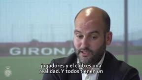 Pere Guardiola manda un mensaje a la afición del Girona
