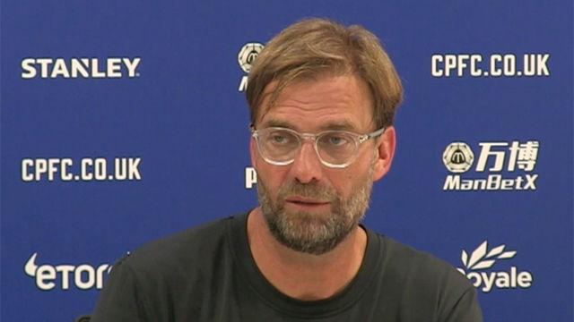 A pesar de ganar al Palace, Klopp espera más del Liverpool