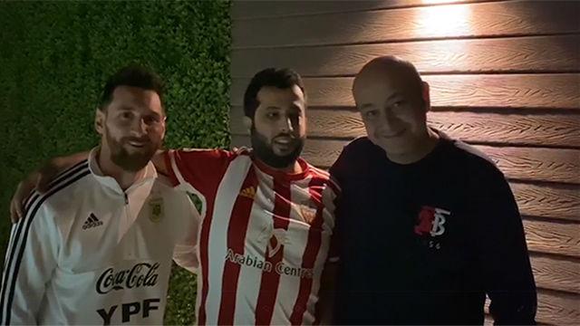 ¿Qué hacía Messi viendo el Elche-Almería?