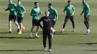 Quique Setién ha preparado el partido ante el Real Madrid