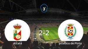 El RAlcalá y el Atlético de Pinto consiguen un punto tras empatar a dos