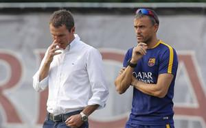 Robert Fernández y Luis Enrique trabajan conjuntamente