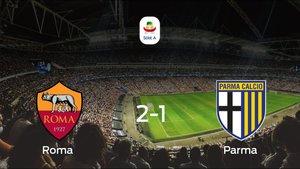 La Roma se lleva la victoria en casa frente al Parma (2-1)
