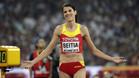 Ruth Beitia, durante el Campeonato del Mundo 2015