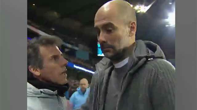Sarri le negó el saludo a Guardiola