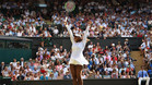 Serena Williams celebrando la victoria
