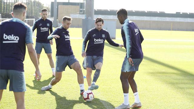Sergi Roberto y Suárez vuelven al trabajo, y Chumi continúa con el primer equipo
