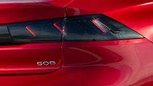 Grupos ópticos traseros del Peugeot 508.