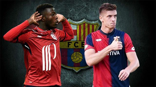 Así juegan Piatek y Pépé, los dos objetivos del Barça
