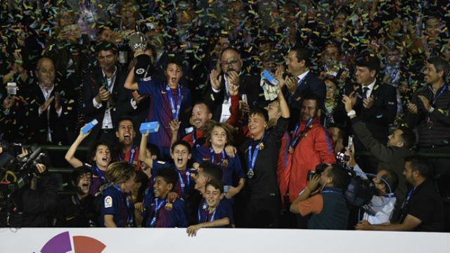 El Barça, campeón de LaLiga Promises 2017