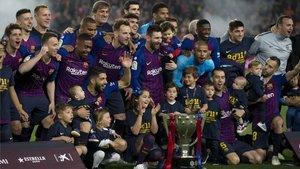 El Barça es el vigente campeón; la última Liga la celebró con tres jornadas de margen