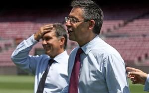 Bartomeu y Laporta, en una imagen durante la campaña electoral