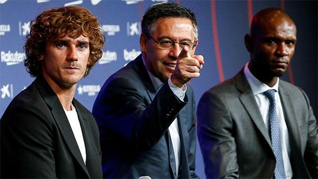 Bartomeu no ha querido hablar de Neymar en la presentación de Griezmann