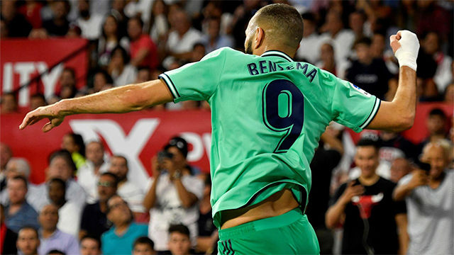 Benzema dio la victoria al Madrid ante el Sevilla