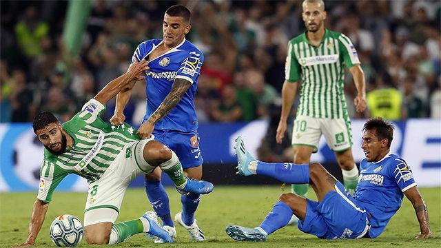 El Betis reacciona a tiempo para sumar un punto ante el Getafe en el Villamarín