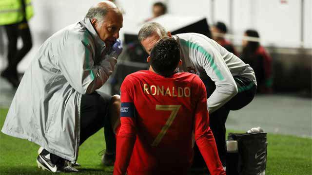 Cristiano Ronaldo se lesiona con Portugal
