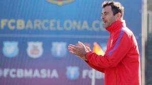 Denis Silva entrena el juvenil A del Barça
