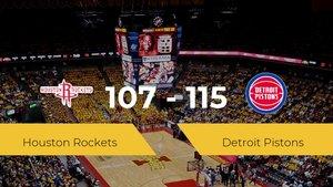 Detroit Pistons se hace con la victoria en el Toyota Center contra Houston Rockets por 107-115