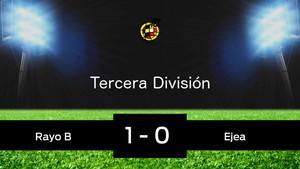 El Ejea pasa de ronda pese a perder 1-0 ante el Rayo Vallecano B