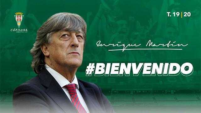 Enrique Martín, nuevo entrenador del Córdoba, envía un mensaje de optimismo a los aficionados