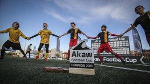 La Escuela de Fútbol Premier Barcelona levantó el premio de campeón