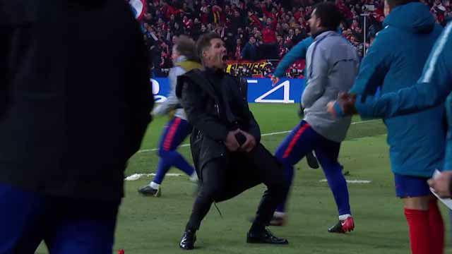 El feo gesto de Simeone: celebró el gol de Giménez acordándose de sus partes