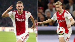 Frenkie De Jong y Matthijs De Ligt son objetivos del Barça para 2019