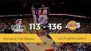 Los Angeles Lakers se impone a Portland Trail Blazers por 113-136