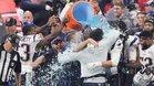 Los jugadores de los Patriots celebrando el título