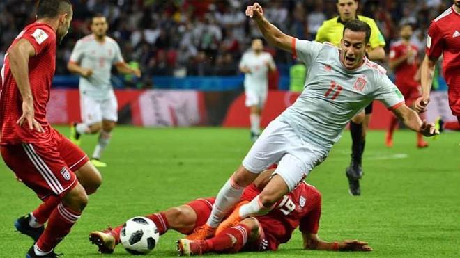 "Lucas Vázquez: ""Los once de Irán jugaron por detrás del balón"""