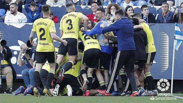 Luis Suárez dios la victoria al Zaragoza en La Rosaleda