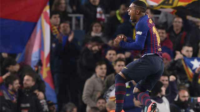 Malcom protagonizó su mejor partido con la camiseta del Barça ante el Real Madrid