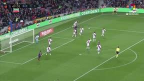 Messi anotó el gol de la remontada ante el Rayo