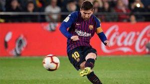 Messi lidera la carrera por el Pichichi y tambien la de la Bota de Oro