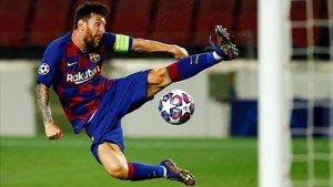Messi marcó el camino del Barça a Lisboa