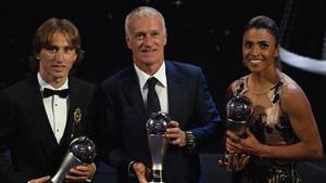 Modric, Deschamps y Marta fueron los tres ganadores