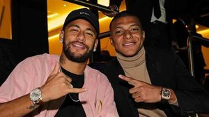 Neymar y Mbappé disfrutaron del triunfo del PSG