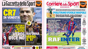 La prensa italiana coloca a Rafinha en el Inter